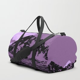 Chugach Mountains - EggPlant Pop Art Duffle Bag