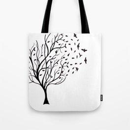 Tree Birds Tote Bag