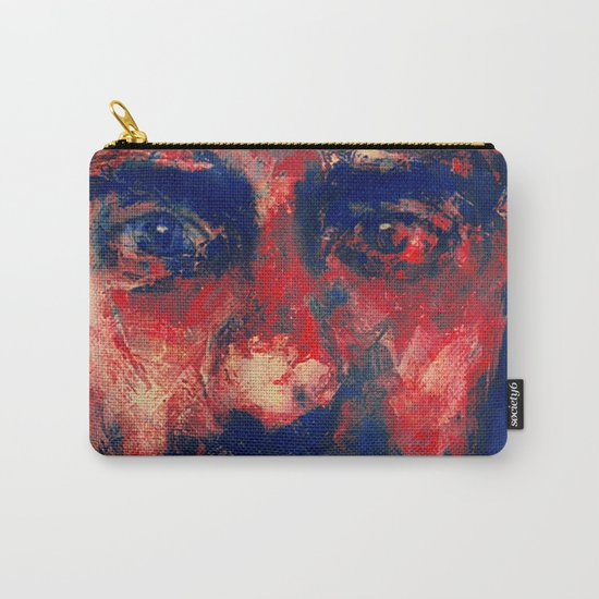 Face in Saturated Color's 4 Carry-All Pouch