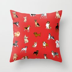 Dog breeds! Throw Pillow