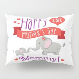 Happy Mothers Day Message Best Mom Elephant Gift Pillow Sham