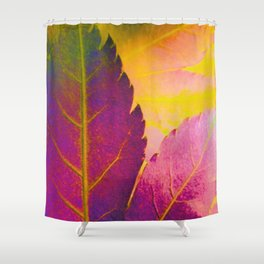 Maple Leaf Abstract Shower Curtain