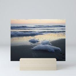 The place where the Sea meets the Earth Mini Art Print