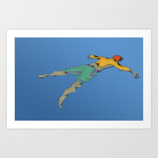 Poor Floater Art Print