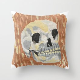 I Want To Live- Skull Painting Throw Pillow