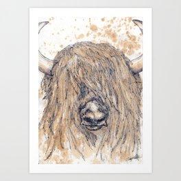 Buttered Yak Art Print
