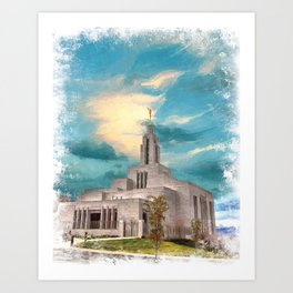 Draper Utah LDS Temple  Art Print