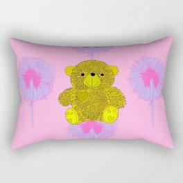 Teddy Bear Print Rectangular Pillow