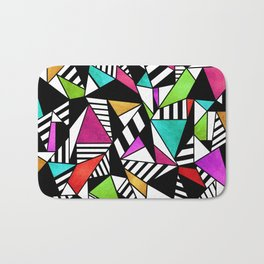 Geometric Multicolored Bath Mat