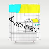architect Shower Curtains featuring ARCHITECT-2 by Art-xigo