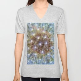 Luminous Colorful Blowball Unisex V-Neck