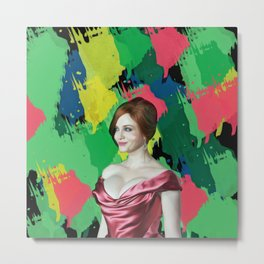 Christina Hendricks - Celebrity Art Metal Print