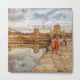 Angkor Monk Metal Print
