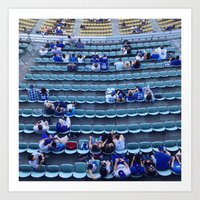 dodgers Art Prints featuring Find Your Seat by Gabe Dahl