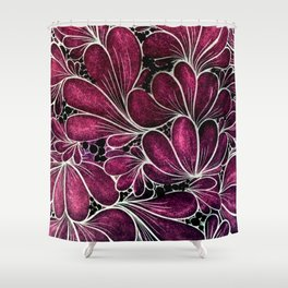 Funny Flowers Shower Curtain