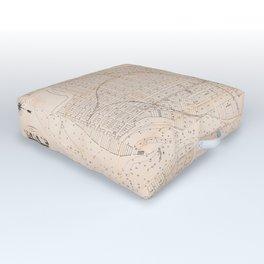 Vintage Wilmington NC Map (1901) Outdoor Floor Cushion