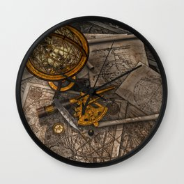 Old World Travel Wall Clock