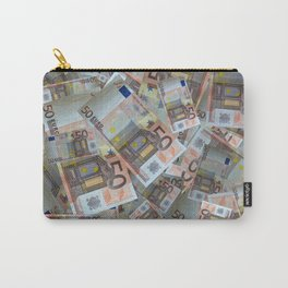 Piles of 50 Euro notes Carry-All Pouch
