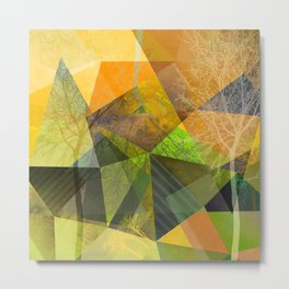 P24 Trees and Triangles Metal Print