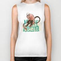 diablo Biker Tanks featuring Mount Diablo by Monica McClain