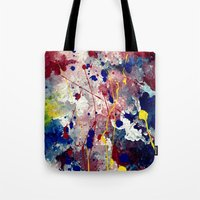 fireworks Tote Bags featuring Fireworks by Tia Hank