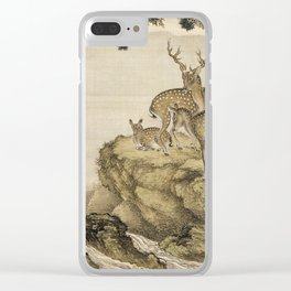 Shen Nan Ppin - Album Of Birds And Animals (Deer). Clear iPhone Case
