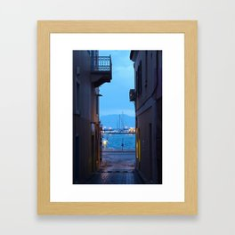 Aegina: Alley View Framed Art Print