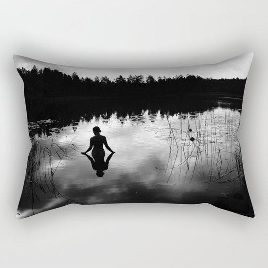Reflecting Beauty v2 BoW Rectangular Pillow