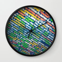Colorful Code (Color) Wall Clock