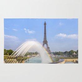 PARIS Eiffel Tower with rainbow Rug