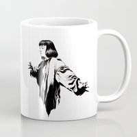 mia wallace Mugs featuring Mia Wallace by El Kane