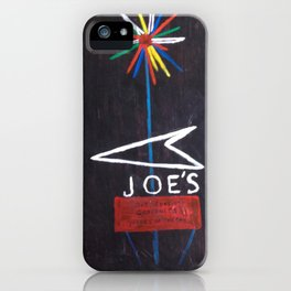 Joe's Sign at Night iPhone Case