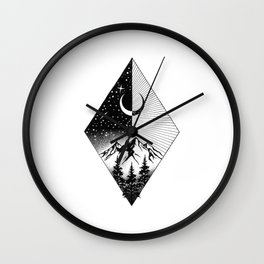 THE MOON AND THE FOREST Wall Clock