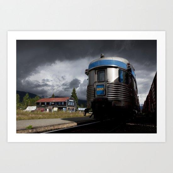 VIA Rail's Iconic 'The Canadian' Train Art Print