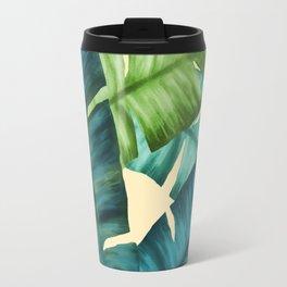 Tropical Banana Leaves Original Pattern Travel Mug