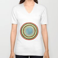 circle V-neck T-shirts featuring Circle by Katelyn Patton