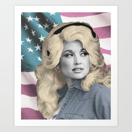 Americana Dolly Art Print