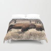 buffalo Duvet Covers featuring August Buffalo by M.Bucklew