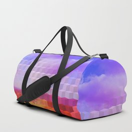 Ultra Surreal Countryside Violet Rainbow Duffle Bag
