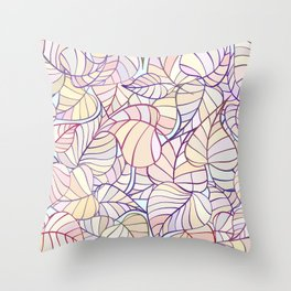 leafs color pattern Throw Pillow