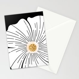 Black and White Blossom Stationery Cards