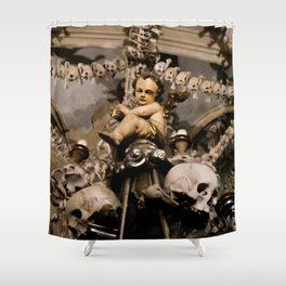 in the midst of life we are in death et cetera Shower Curtain
