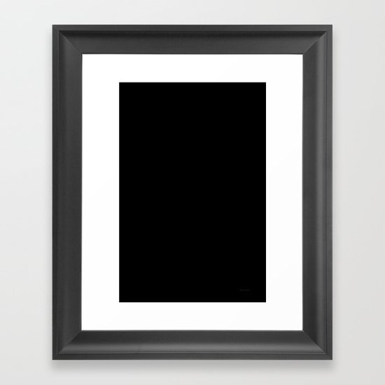 Pile de Monstres - Black/White Framed Art Print