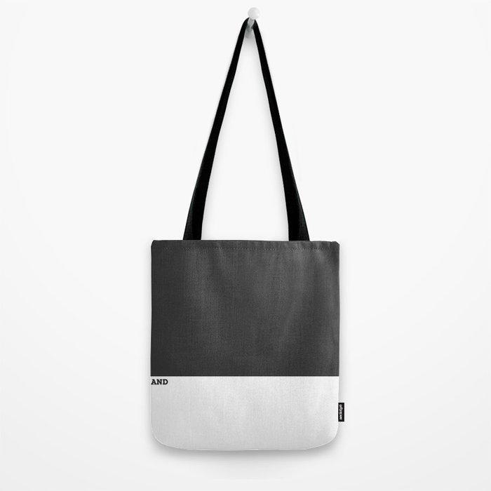 Black and White #Minimal Tote Bag