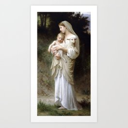 "William-Adolphe Bouguereau ""L'Innocence (Innocence)""(1893) Art Print"