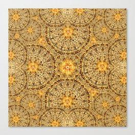 Golden Thread Mandala Canvas Print