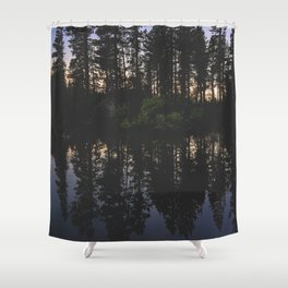 Manzanita Lake at Sunset Shower Curtain