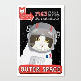 1963: France Blasted the First Cat into Outer Space Canvas Print
