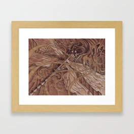 These waves look a little rough Framed Art Print