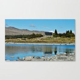Lake Tekapo (church of the good shepherd) Canvas Print